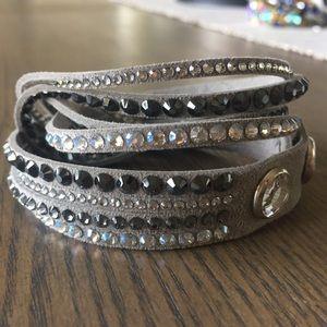 Swarovski Slake Deluxe Gray Wrap Bracelet